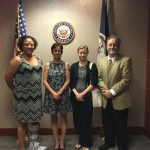 APV staff and members visit Sen. Kaine just before the latest healthcare vote. July, 2017