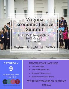 Virginia Economic Justice Summit @ St. Paul's Episcopal Church  | Richmond | Virginia | United States