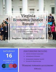 Economic Justice Forum @ pin Show Map Saint Luke Evangelical Lutheran Church | Richmond | Virginia | United States